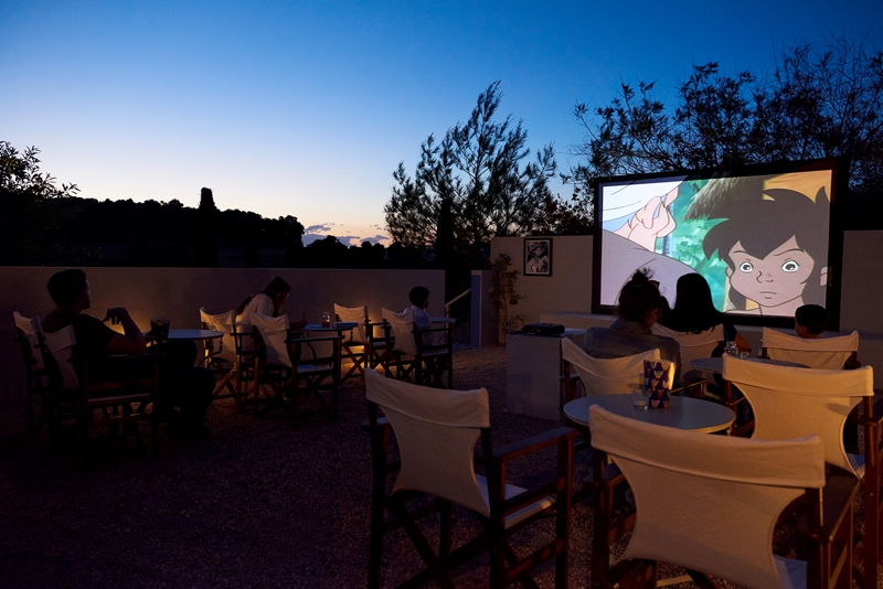 Open air Cinema MYPORTOHELI Basilico luxury villas