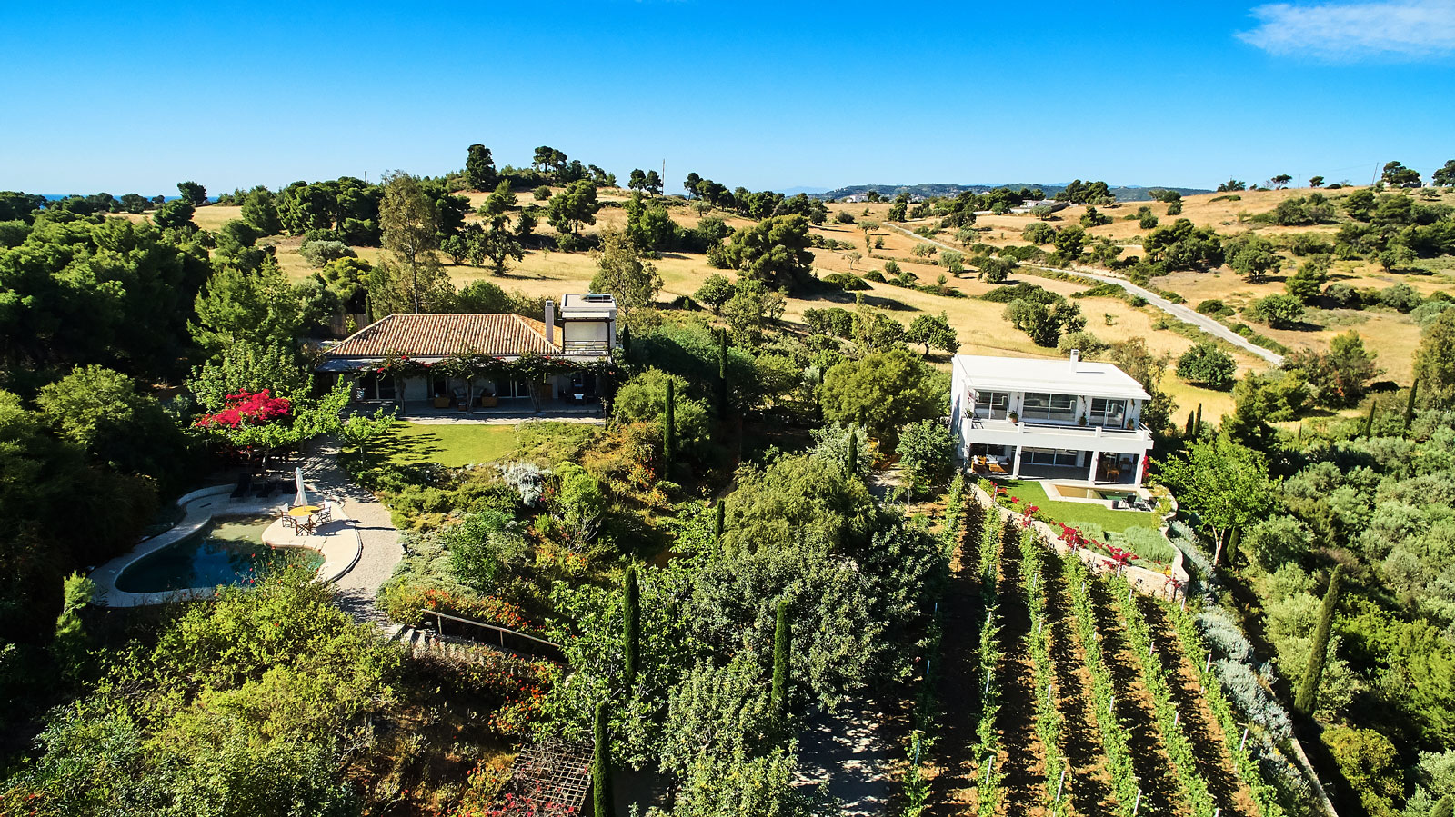 Basilico Aerial luxury villa by MYPORTOHELI